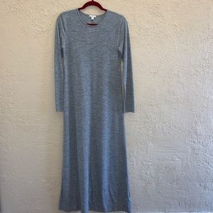 Gap Gray Long Sleeve Maxi Dress Size Medium
